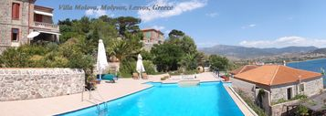 Lesbos villa rental - Private Traditional Stone Villa With use of Infinity Pool and Jacuzzi near Beach