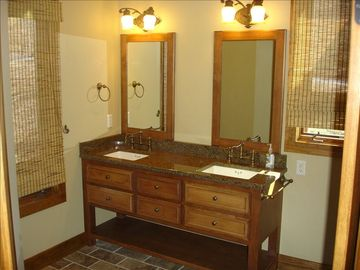 Double vanity adjoins 2nd floor bedroom