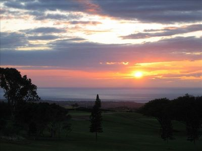 View from Lanai of Sunset