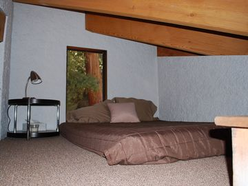 Loft Bedroom, features a full sized comfy mattress!