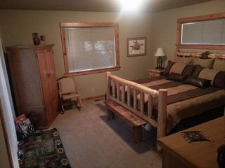 Sunriver house photo - 2nd King Master sleeps 2 in log bed; with room for crib/playpen.