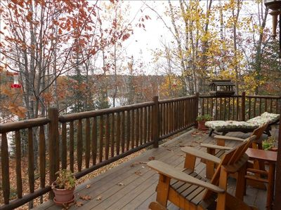Front deck with view overlooking lake and channel
