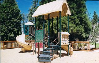 Lake Village townhome photo - Deluxe Children's play area at the club house!