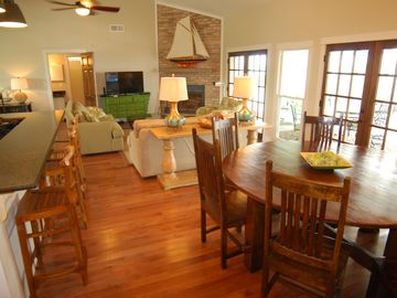 Orange Beach house rental - Open plan for great gathering space