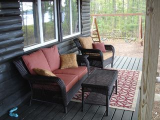 Big Bay cabin photo - Porch Overlooking Lake