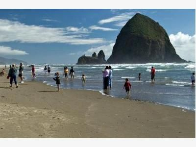 Haystack Rock in Cannon Beach -- the Pacific's less than two hours away!