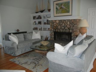 Water Mill house photo - Living room with fireplace