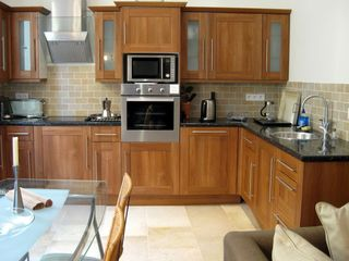 Villefranche-sur-Mer apartment photo - Kitchen, cooktop, microwave, oven, dishwasher .....