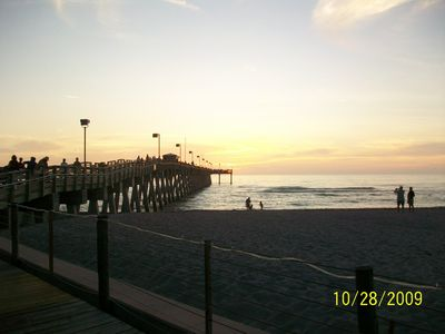 Fishing pier on Venice beach by Sharkey's restaurant