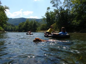 Tubing on the nearby White River