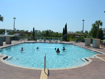 View of the pool from the clubhouse