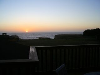 Mendocino house photo - sunset off top deck