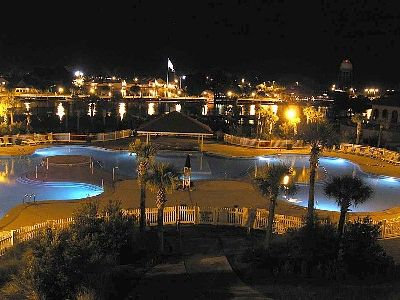 Barefoot Resort Pool at night