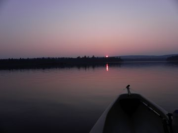 Sunset view from a kayak