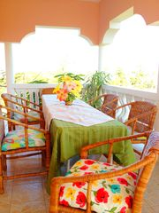 Negril villa photo - Dining on the veranda is the best!