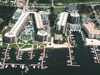 Phoenix on the Bay is located on Canal Road - great views, lazy rivers, etc!!!