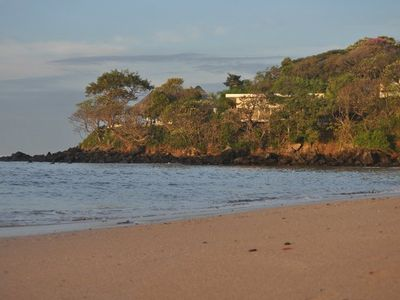 El Salvador house rental - View of house from the beach