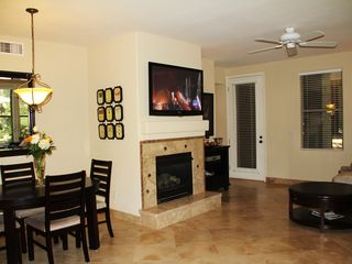 Kierland Scottsdale condo photo - fireplace & 50 inch plasma TV