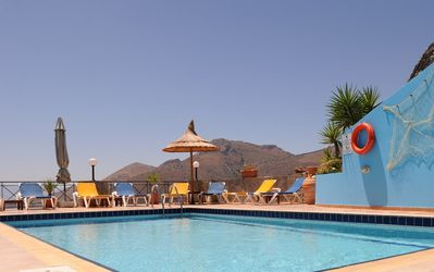 Elounda villa rental - Pool with views over the sea and mountains
