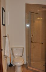 Nassau & Paradise Island townhome photo - Guest bathroom with stand-up shower. 1st and 2nd floor bathrooms are identical.