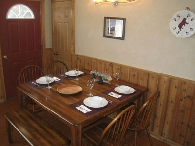West Yellowstone house rental - Butterfly table - dining area. Additional seating for 8.