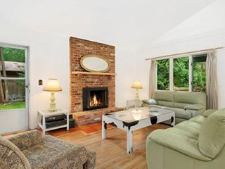 East Hampton house photo - Comfortable seating area with lots of doors and windows
