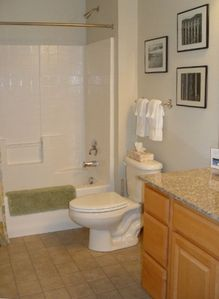 Bathroom includes jetted tub
