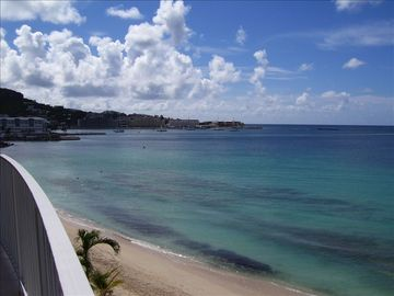 Simpson Bay condo rental - The view from your balcony captures the bay as well as the entering boats.