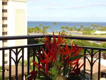 From our Lanai - picture of the first lagoon and the Pacific Ocean