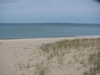 Our beach looking towards North Manitou Island