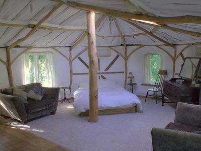 Rural roundhouse in the beautiful Powys countryside