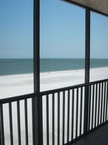 Fort Myers Beach condo rental - Direct Oceanfront View from our Lanai