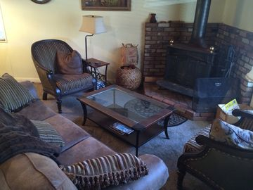 Green Valley Lake cabin rental - Enjoy new carpet throughout, new furnishings and a romantic fire as snow falls.