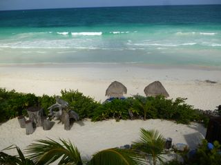 Tulum villa photo - Amazing Turquoise Caribbean vista with 100 meters (300 feet) beach front