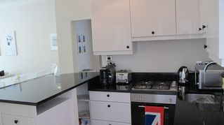 Richmond & Kew apartment photo - Beautiful Kitchen, granite counter tops, brand new appliances and great coffee!!