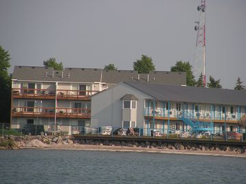 View from Lake Erie . Our unit is the rear top left