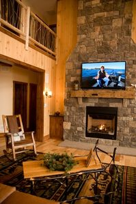 Fireplace in great room