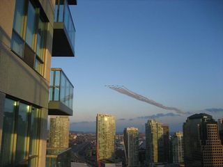 Toronto condo photo - Canada's Snowbirds flying overhead