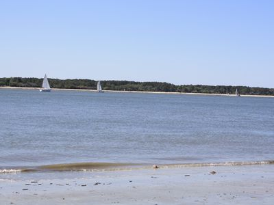 Sea Pines villa rental - Our beach with views of Daufuskie island