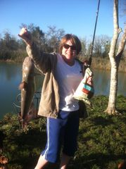 Austin house photo - Love to fish! Feel free to catch and eat 'em! Becky caught this 5.3 lb fish!