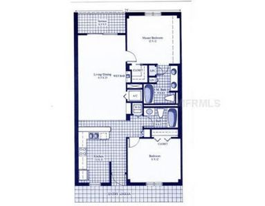 Split Floor Plan with 2 bedrooms and 2 baths.  984 sq. ft..