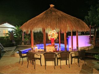 Cap Estate villa photo - Tiki Bar at Night December 2012