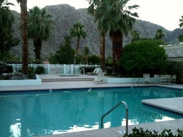 Rancho Mirage house rental - 1 Of Our Huge Heated 24/7 Community Pool/Jacuzzi/Shower Combo Just Steps Away.