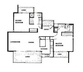 Floor Plan large Lanai faces Pacific Ocean