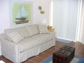 Surf City townhome photo - Sleep Sofa - Lower Level Family Room / Game Room, has Playstation 2, cabletv/dvd