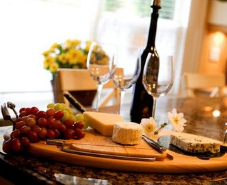 Enjoy some of the locally made wines and cheeses