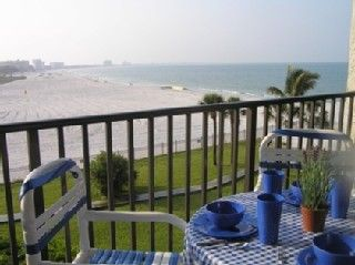 St Pete Beach condo photo - Living room & bedroom balcony view early in the morning.
