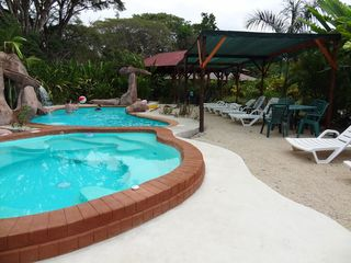 Montezuma house photo - Pool, Jacuzzi and poolside beach