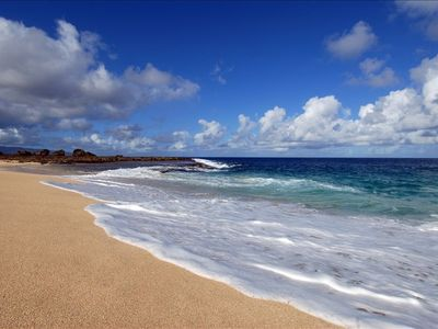 Oahu's most desired beach-right outside your door (actual photo of our beach)