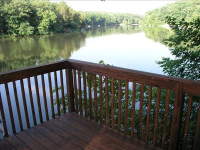 A Lakeside Deck Let's You Look Out Over the Lake and All of the Wildlife There.